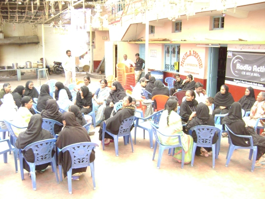 Th community radio workshop in 2008 at JJR Nagar