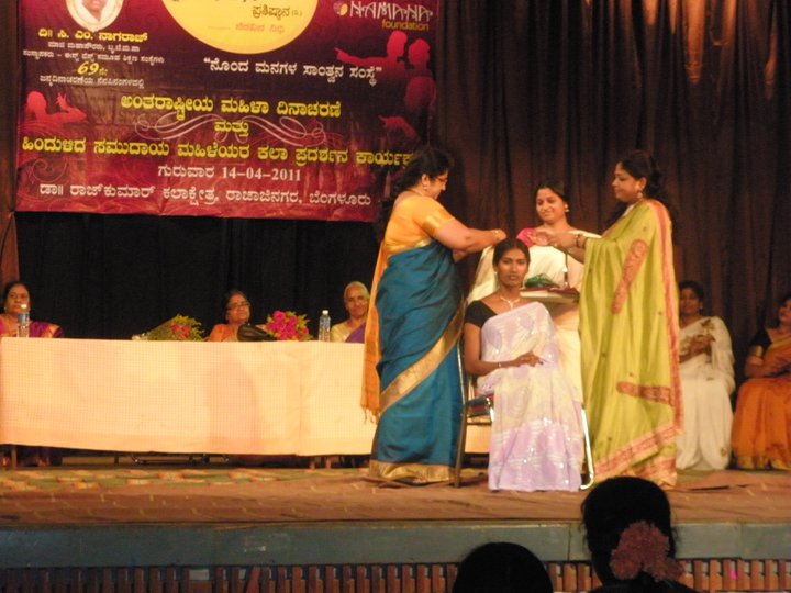 RJ Priyanka felicitated for being the role model for the LGBT community by Namana Foundation in a special function held 14th April 2011